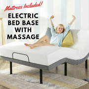 Smart Queen Adjustable Bed Frame Massage Remote With 12 Memory Foam Mattress