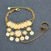 Gold Color Coin Bracelet For African Arab Women And Men Wedding Jewelry Gifts