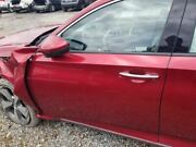 18-19 Honda Accord Oem Driver Left Front Door Assembly Painted Red