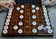 Chinese Natural White Jade Hand-carved 2 People Game Chess Board Xiangqi Box Set