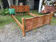 Old Hickory Adirondack Indiana Willow Full Size Antique Woven Cabin Lodge Bed