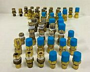 Swagelok Brass Tube Fitting Male Connectors 5/16 3/8 1/4 3/16 1/8 Lot Of 53