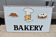 Hand Painted Wood Bakery Sign Lettered Cake Brownies Cookies Baking Double Sided