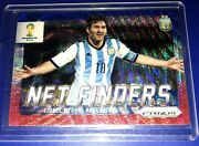 2014 Panini Prizm World Cup Net Finders Lionel Messi 2 Red White And Blue Wave