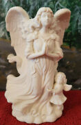 New Partylite P7638 Angel Of Hope Taper Candle Holder W/ Glass Bird In Hand