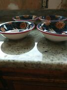 Susan's Winget, Rooster Dishes, 4 Soup Bowls, 4 Salad Plates, Hand Painted