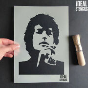 Bob Dylan Stencil Reusable Various Sizes Wall Fabric Furniture Painting Stencils