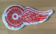 Vintage Late 1930and039s Detroit Red Wings Hockey Game Uniform Patch Advertising Rare