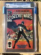 Marvel Super Heroes Secret Wars 8 Cgc 9.4 First Symbiote White Pages 1984