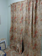 Vintage Drapes In Kirsten-lined -heavy Cotton Fabric-86 Long