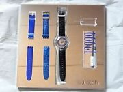 Swatch Tresor Magique Limited Edition Platinum Automatic Watch Rare Box And Paper