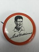 Vintage Rare Ted Williams Red Sox 1 Pin Back Button