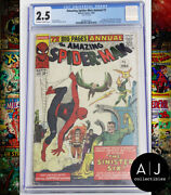 Amazing Spider-man Annual 1 Cgc 2.5 Marvel Cover Detached