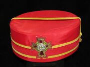 Vintage Knight Commander Court Of Honour Scottish Rite Red Hat Size 7