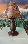 Very Rare New Partylite P8368 Global Fusion Tealight Candle Lamp Mosaic Glass