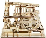 3d Wooden Puzzle Marble Run Model Building Kit Mechanical Puzzle Unisex Toy Gift
