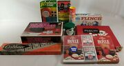 1963-1980 Vintage Board And Card Game Lot Flinch Dominos Pokeno Gizz Yahtzee Old