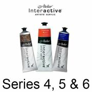 Chroma Atelier Interactive Artists' Acrylics, 80ml Tubes, Series 4, 5 And 6