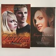 2 Lot Richelle Mead Large Paperback Books-vampire Academy And The Fiery Heart