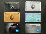 American Express Centurion Bundle 6 Cards. Authentic. Ultra Rare. Collectible.