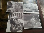 4 Vintage Photo Lot / Pedal Cars Childrens Car Toy Auto Old Snapshots 8x10