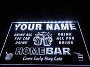 Custom Home Bar Led Neon Sign Light Up Drink Wall Beer Lager Personalize Plaque