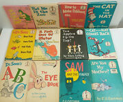 Dr. Seuss Book Lot Of 12 Beginner Books 1950-60and039s With One 1979 Various Authors