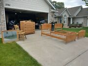 Antique Old Hickory Rustic Adirondack Cabin Set Beds Dresser Chairs Mirror Suite