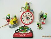 Looney Tunes Christmas Ornaments Marvin The Martian Figures Lot Of 5