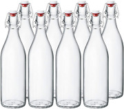 Clear Beer Bottles 16 Oz,encheng Easy Cap Glass Bottle With Stopper,home Brewing