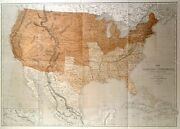 Usa. Genuine Antique Map Of The United States By Theodor Ettling 1861