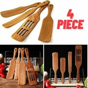 Wooden Spurtle Set Kitchen Tools Natural Acacia Cookware Spatula Spoon Utensils