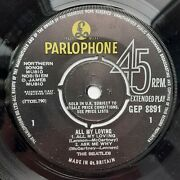 Mega Rare Beatles All My Loving Ep Sold In The Uk Kjt Tax Code 68/69 Issue
