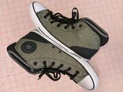 Converse Allstar Menand039s Green Woven Sneakers Size 10 High Top New W/o Box