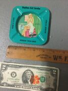 Vintage Gulf Service Gas Station Pinup Ashtray River Rouge Michigan