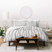 Deny Designs Heather Dutton Linear Cross Stone Duvet Set With Two Pillow Shams