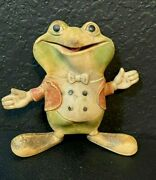 Rempel Mfg 1948 Ed Mcconnell Akron Ohio Vintage Rubber Squeeze Toy Frog