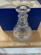 St. Louis Trianon Crystal Large Glass Triple Ring Neck Barware Wine Decanter