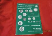 Coin Galleries Mail Bid Sale 11/9/1988 Anicent And Modern Coins Of The World And Us