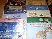 1990-1991-1992-1993-1994-1995-1996-1997-1998-1999 Us Mint Uncirculated Coin Sets