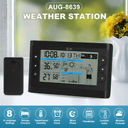 Lcd Wireless Large Screen Weather Station Outdoor Indoor Hygrometer Thermometer