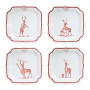 Juliska Country Estate Reindeer Games Solo Sports Party Plates Set Of 4