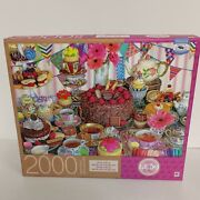 Mb Puzzle 2000 Pieces Tea Party Tent Sweets And Dessert 24 X 32 New/sealed