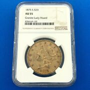 1875 S 20 Gold Liberty Double Eagle Type 2 Ngc Au55 Granite Lady Hoard