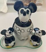 Vintage Mickey Mouse Condiment Set Made In Germany In 1930and039s