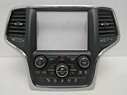 2018 Jeep Grand Cherokee Srt Vehicle Controls Center Stack W/ 7 Inch Display