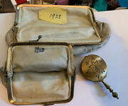 Vintage Cosmetic Purse And Coin Purse 1928 @ Vintage Hand Held Brass Ashtray
