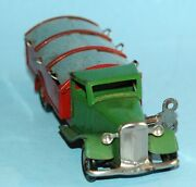 Vintage Wind Up Triang Minic Toys England 5 1/2 Refuse Lorry Garbage Truck Tin