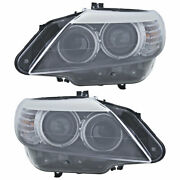 For Bmw Z4 2009 2010 2011 2012 Pair Oem Hella Headlights Csw