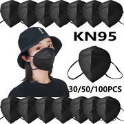 Black Color Kn95 Protective 5 Layer Face Mask Disposable Respirator Bfe 95